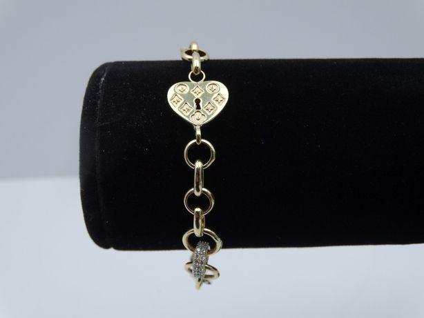 Piękna złota bransoletka P585 8,24g 19cm LOMBARD66