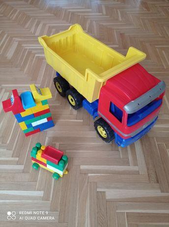 DUŻY samochód, auto, zabawka, wywrotka, ciężarowe plus gratis