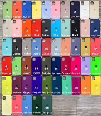 Силиконовый чехол на айфон 7,7+,6,6s,11pro,xr,xs,8+,xs max,11,8,5,6+
