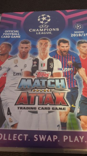Karty Match Attax Chamipons League 2018/19 Aktualizacja 27.01.2021r.