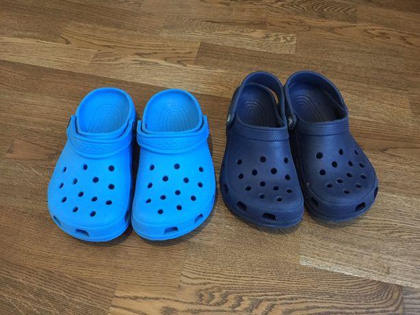 34 р. Crocs J-2 M-2 W-4 кроксы оригинал синие для мальчика