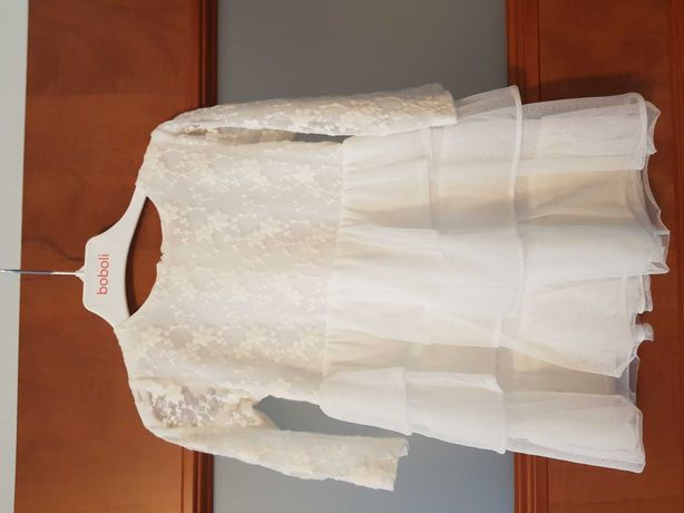 Sukienka na chrzest, komunie, wesele rozm. 86