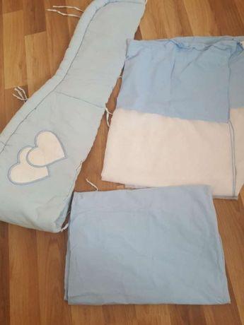 Ochraniacz baldachim niebieski biały dla chłopca