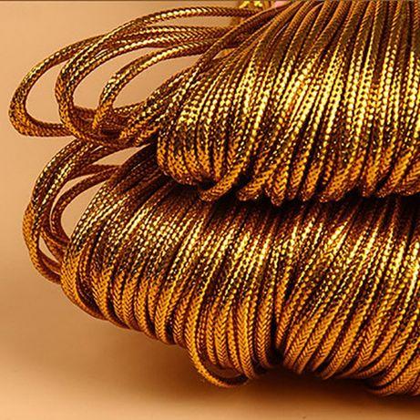 Złoty sznur sznurek do pakowania prezentów 10 metrów