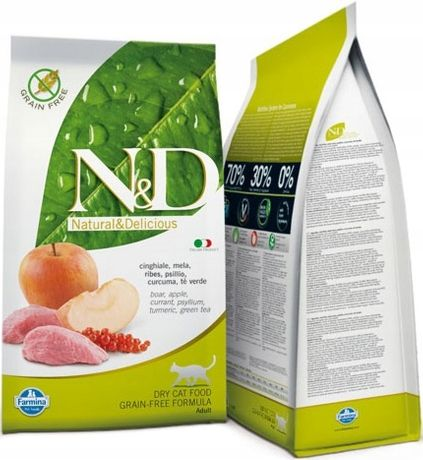 ND Cat 2720 No Grain Wild Boar Apple 5kg