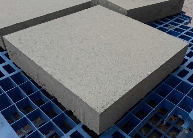 Płyta betonowa chodnikowa gruba 40x40x8 szara gładka niefazowana