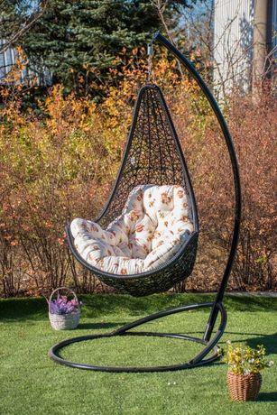 Подвесное кресло кокон Леди. Качеля в сад Гамак плетёный Kreslorotang