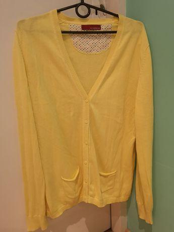 Sweterek żółty z kieszonkami, rozmiar L
