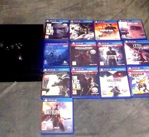 PS4 PRO 1TB, konsola gry zestaw mega