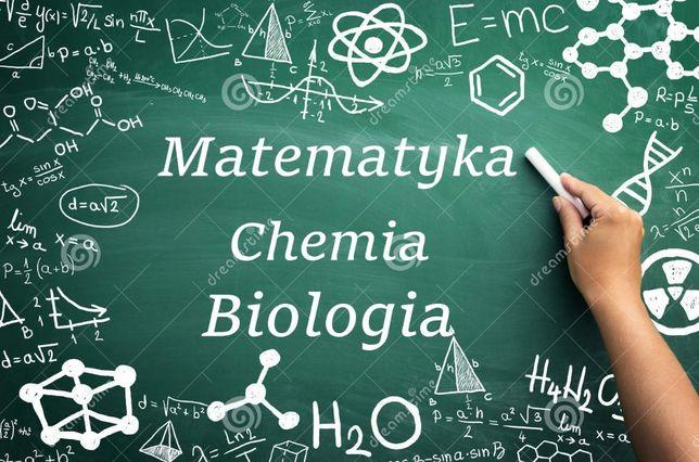 Pomoc / rozwiązywanie zadań z matematyki, chemii i biologii.