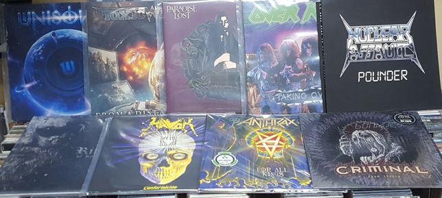 Lote de 9 LPs hard heavy metal trash rock