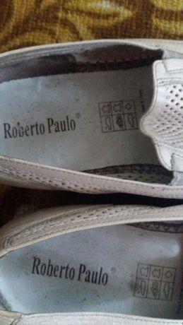 Летние туфли мужские кожаные Roberto Paulo 44 размер