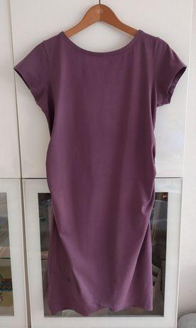 Sukienka ciążowa XXL Tom&Rose 44 ubrania odzież lato letnia fioletowa