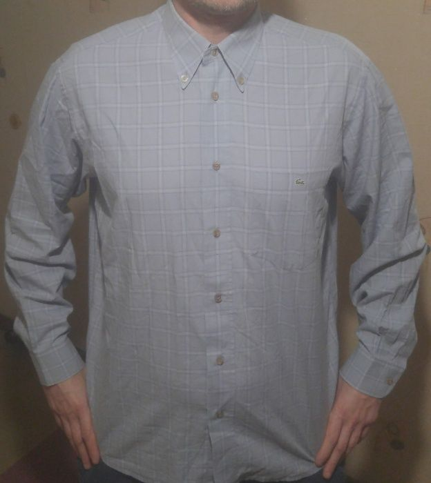 рубашка Lacoste L XL размер 41 оригинал