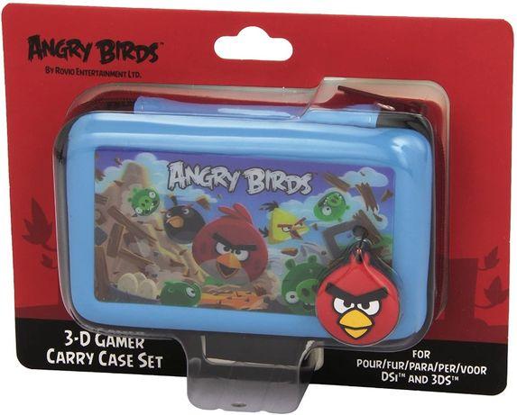 3-D Gamer Carry Case Set Angry Birds NOVA para Nintendo 3DS/DSi