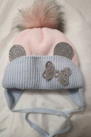 Зимняя шапочка 6-12 месяцев