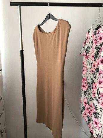 Brązowa sukienka noname