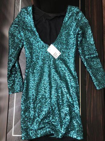 Мини платье в паетках H&M