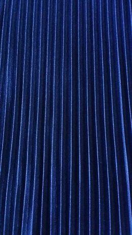 Tecido azul plissado para vestido 1,50 x 1,40
