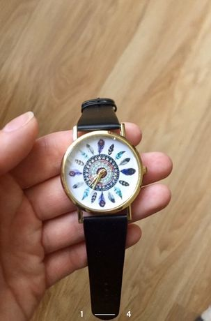 Часы женские, часы с перьями, годинник жіночий
