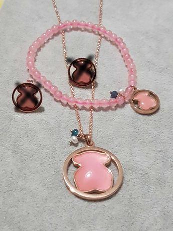 Lindíssimos conjuntos de colares e pulseiras em aço