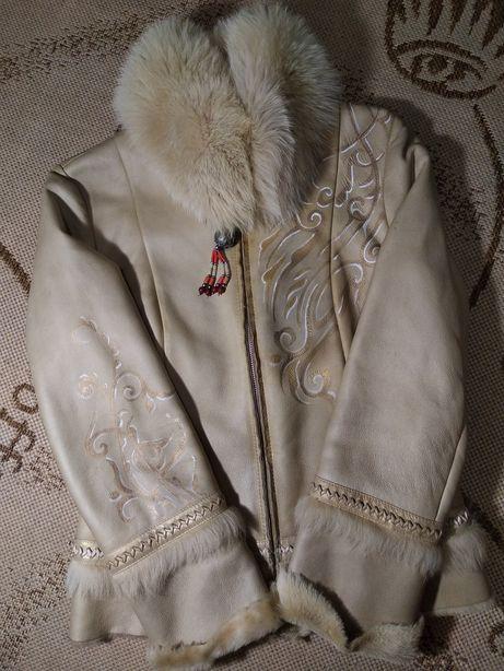 Куртка дубленка шуба кожанка dame e cavalieri натуральная кожа шерсть
