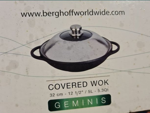 Сковорода Вок казан WOK Berghoff Cast New 32 см 5 л, Нивки