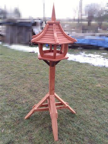Wolnostojący, ogrodowy, duży karmnik dla ptaków