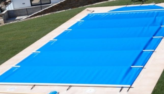 Cobertura segurança de piscina com barras 9x5