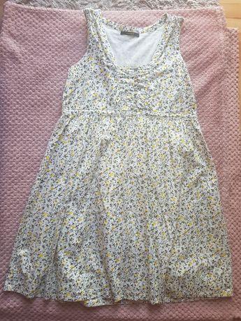 Sukienka na naramkach w żółte kwiatki łączka Vero Moda L