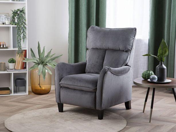 Poltrona reclinável em tecido cinzento ROYSTON - Beliani