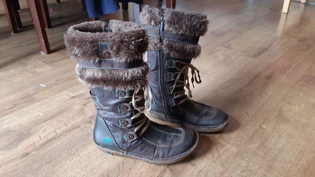 Kozaki, kozaczki, buty zimowe dziewczęce, ocieplane Mustang 37