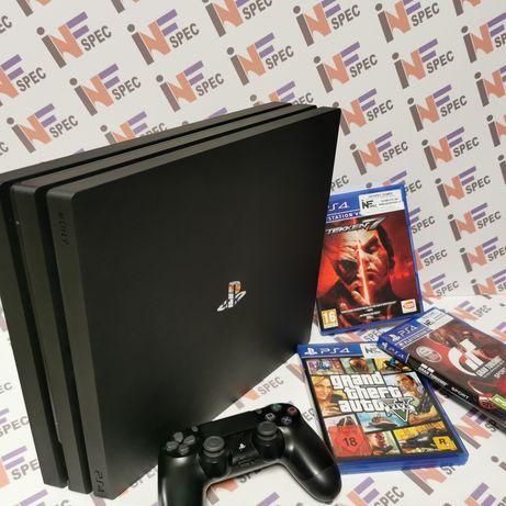 PS4 PRO 1TB, pad, 3xgra+przewody od SERWISU gwarancja!