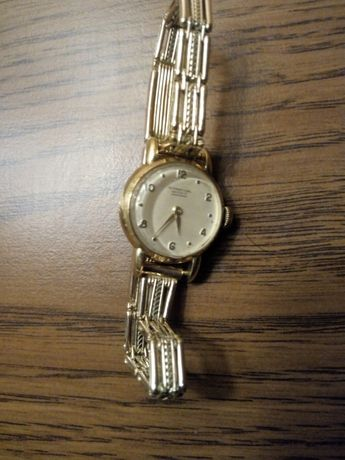 Złoty mechaniczny zegarek IWC Schaffhausen