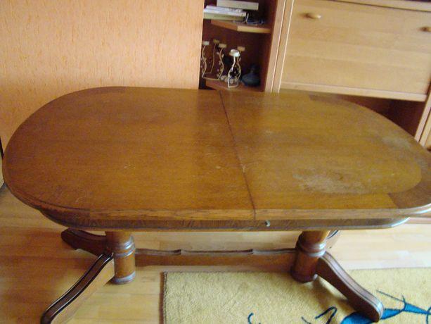 Stół dębowy owalny rozkładany