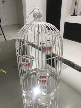 Peça decorativa Gaiola + oferta de velas - nova
