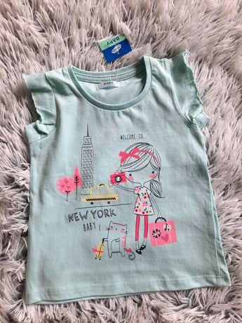Nowy t-shirt/ bluzeczka/ koszulka, r.74