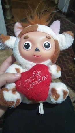 Мягкая игрушка Чебурашка в память об СССР в костюме коровы
