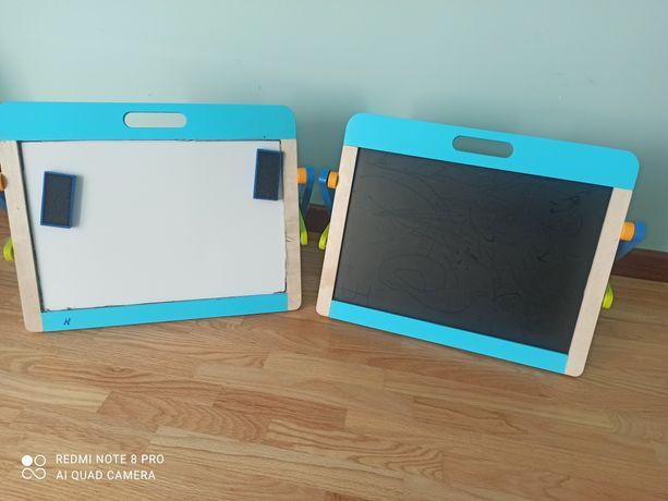Tablice do pisania i tablica magnetyczna 2 szt