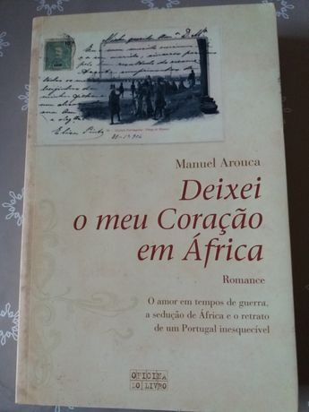 """Livro """"Deixei o meu coração em África"""""""