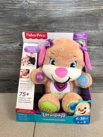 Интерактивная игрушка Fisher-Price Умный щенок обновленный на немецком