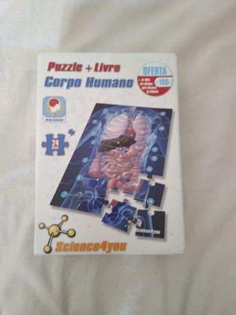 Puzzle + Livro Corpo Humano/ Sistema Solar