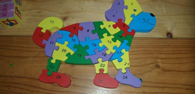 Puzzle drewniana