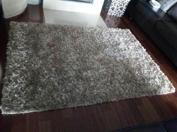 Carpete beje pêlo misto como nova 140x190