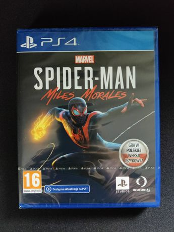 Spider-man Miles Morales PS4 PS5 NOWA FOLIA