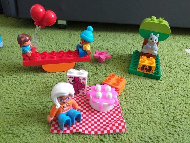 Klocki lego  duplo zabawa w parku