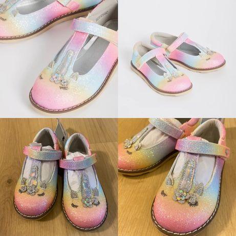 Новые  туфли единорожки фирмы TU на девочку размер С6, стельке 14 см