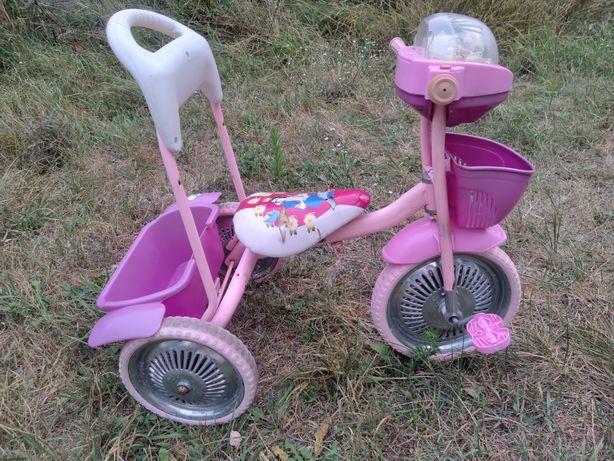 Велосипед трехколесный детский с молодиями дитячий велик
