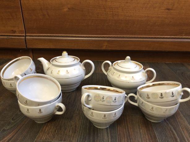 Чайный сервиз СССР винтаж фарфор Городница