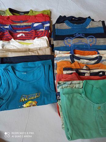 Bluzeczki dla chłopca rozmiar 92